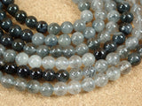 Blue Rutilated Quartz Round Beads