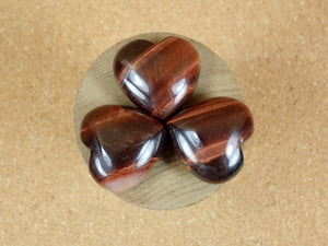 Red Tiger Eye Heart Mineral Specimen