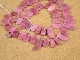 Natural Ruby Teardrop Beads