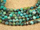 Natural Turquoise Faceted Round Beads