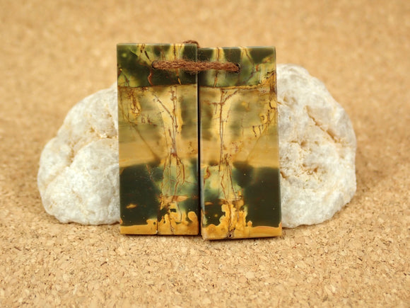 Red Creek Jasper Rectangle Earring Pair