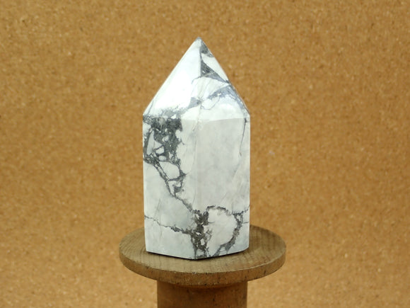 White Howlite Point Mineral Specimen
