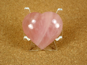 Rose Quartz Heart Mineral Specimen