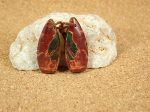 Red Creek Jasper Teardrop Earring Pair