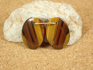 Tigereye Oval Earring Pair