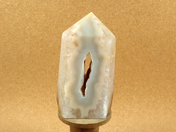 Agate Point with Druzy Center