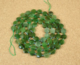 Canadian Jade Faceted Coin Beads