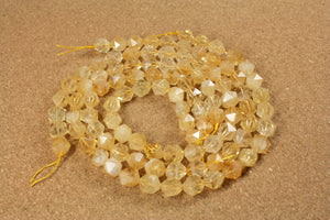 Citrine Octagon Beads