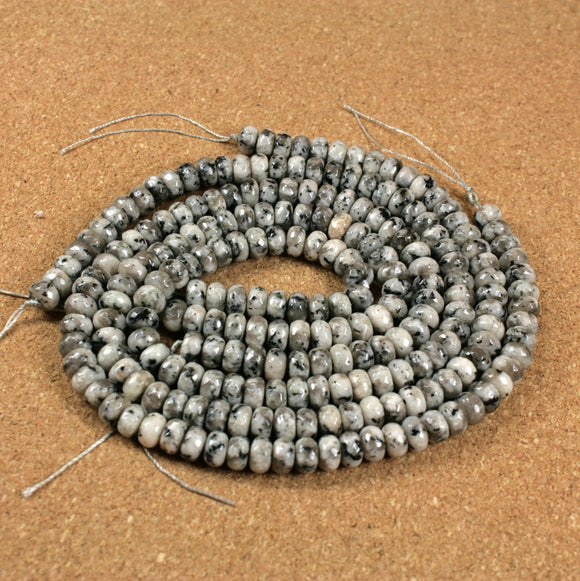 Norwegian Moonstone Faceted Rondelle Beads