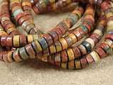 Red Creek Jasper Rondelle Beads