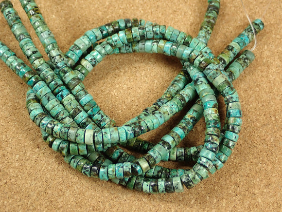 African Turquoise Rondelle Beads