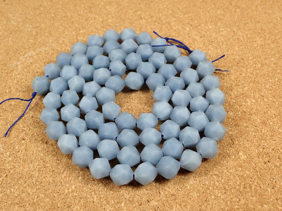 Angelite Octagon Beads