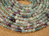 Fluorite Faceted Round Beads