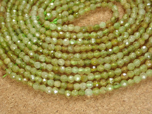 Grossular Garnet Faceted Round Beads