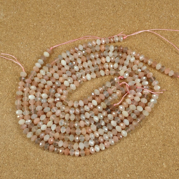 Moonstone Faceted Rondelle Beads