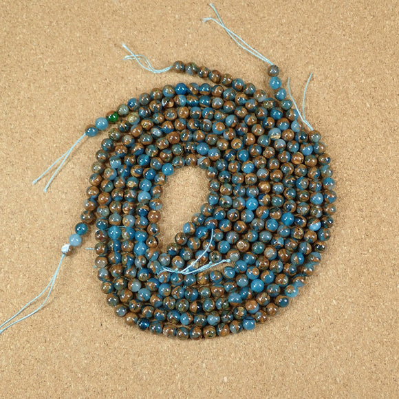 Agate and Goldstone Round Beads
