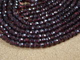 Garnet Round Faceted Beads
