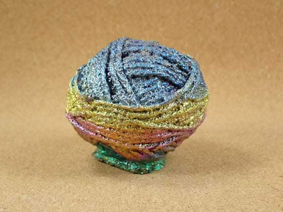 Bismuth Ball of Yarn Cast Figurine  - Multicolored Cast Metal Display Item, Paperweight, Home Decoration and Gift