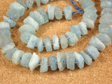 Aquamarine Round Slice Beads