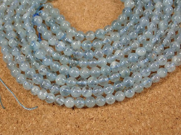 Aquamarine Round Beads