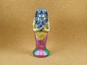 Bismuth King Tut Cast Figurine  - Multicolored Cast Metal Display Item, Paperweight, Home Decoration and Gift