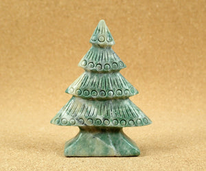 Moss Agate Christmas Tree Display Specimen