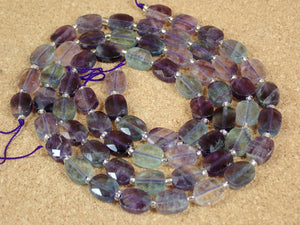 Fluorite Faceted Oval Beads