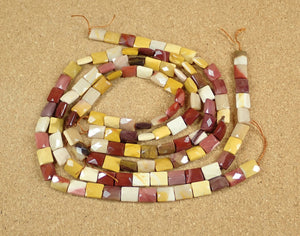 Mookaite Faceted Rectangle Beads