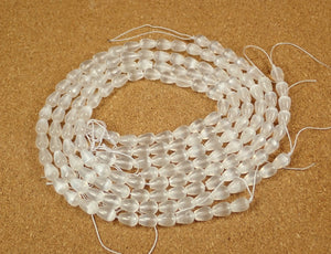 Selenite Teardrop Beads