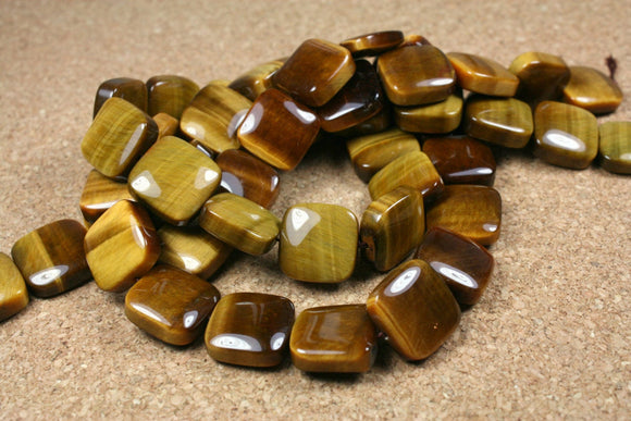 Tigereye Square Beads