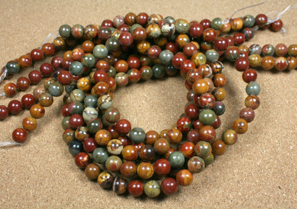 Red Creek Jasper Round Beads
