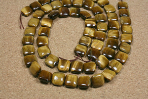 Tiger Eye Square Beads