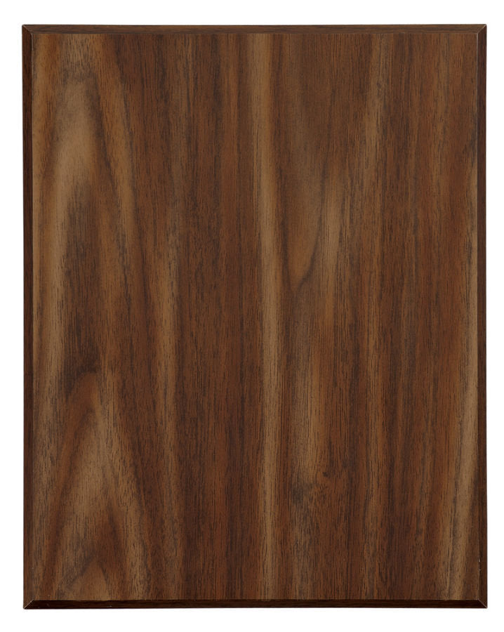 "9"" x 12"" Value 45 Degree Bevel Edge Walnut Finish Plaque"