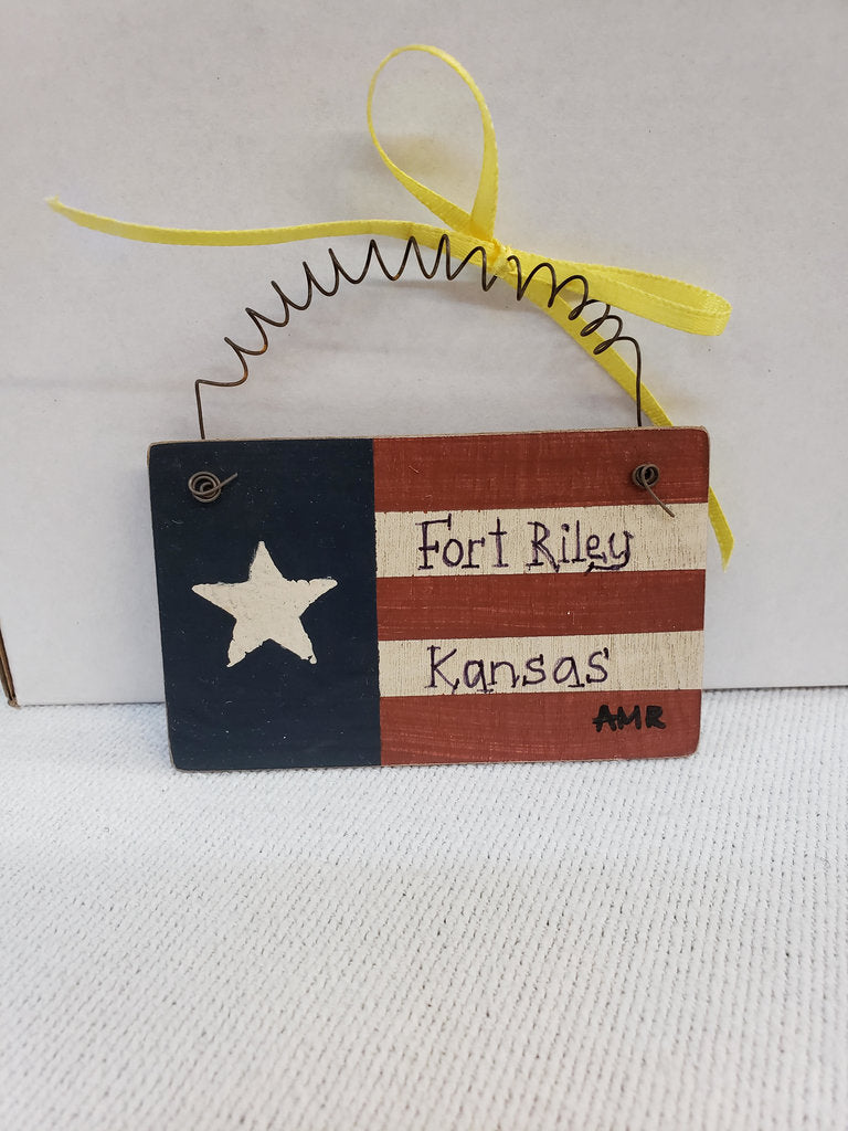 Ft.Riley KS Flag Ornament