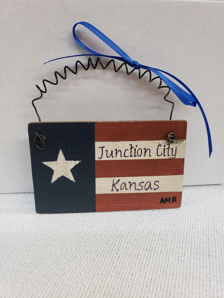 Hand-Painted Flag Ornament