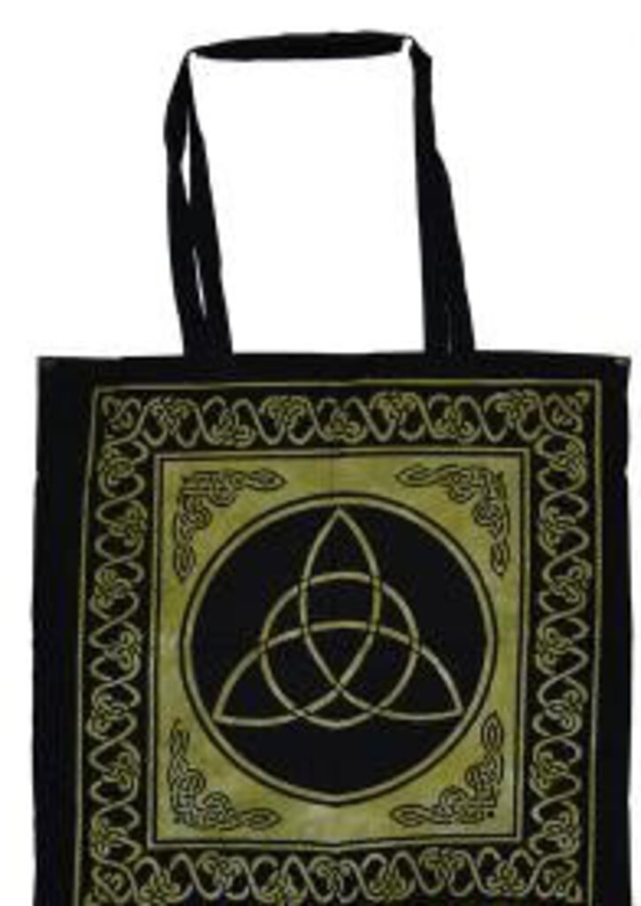 Green & Black Triquetra Tote Bag