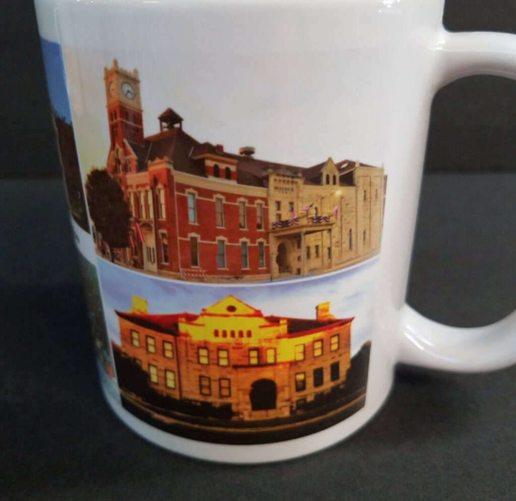 Junction City KS Land Mark Pictures - 15 oz White Mug