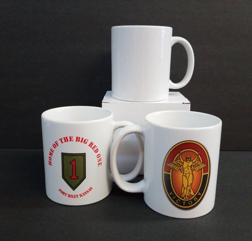 Big Red One & Lady Victory 15 oz White Mug
