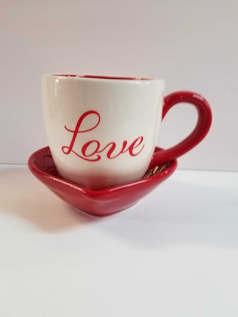Lover's Cup with Tea & Honey Sticks
