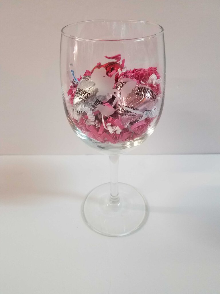 Single Stemmed Rose Wine Glass