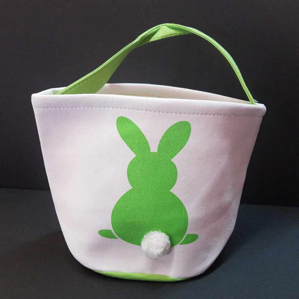 Green Easter Bunny Basket Tote