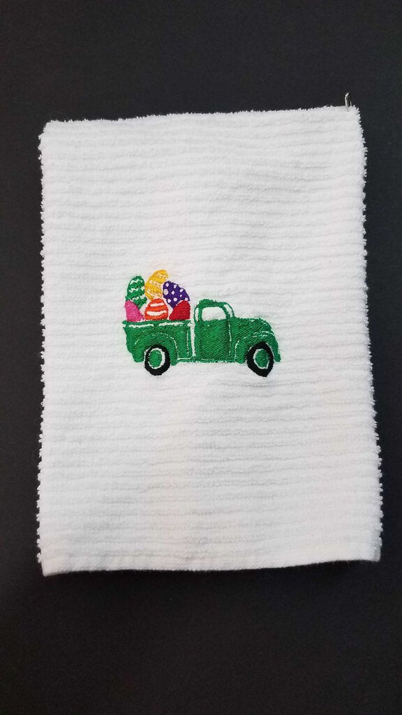 Easter Truck Hand Towel