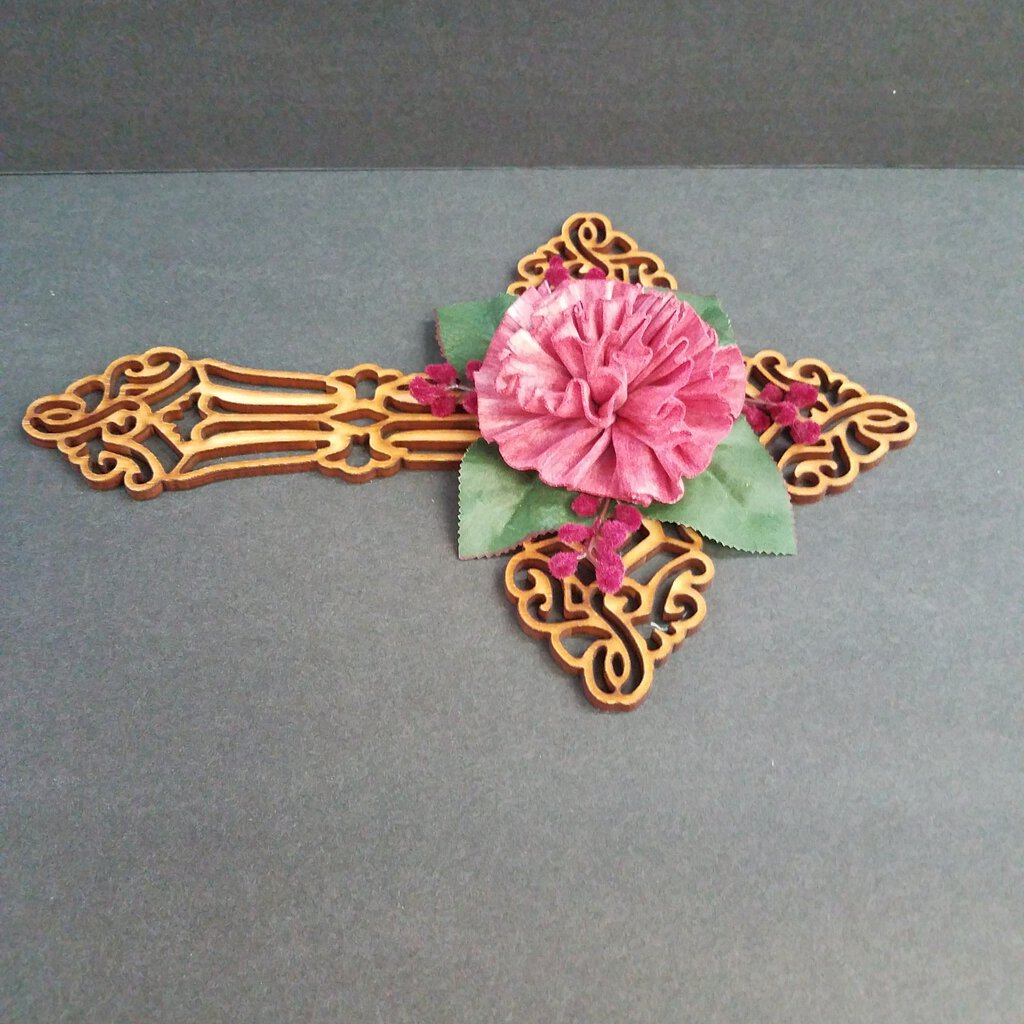 Wood Cross Wall Decor with Wood Forever Flowers