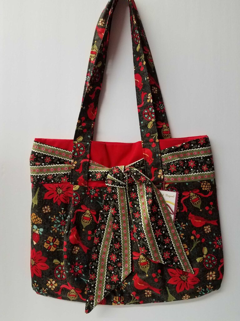 Cardinals & Poinsettias Sash Handbag