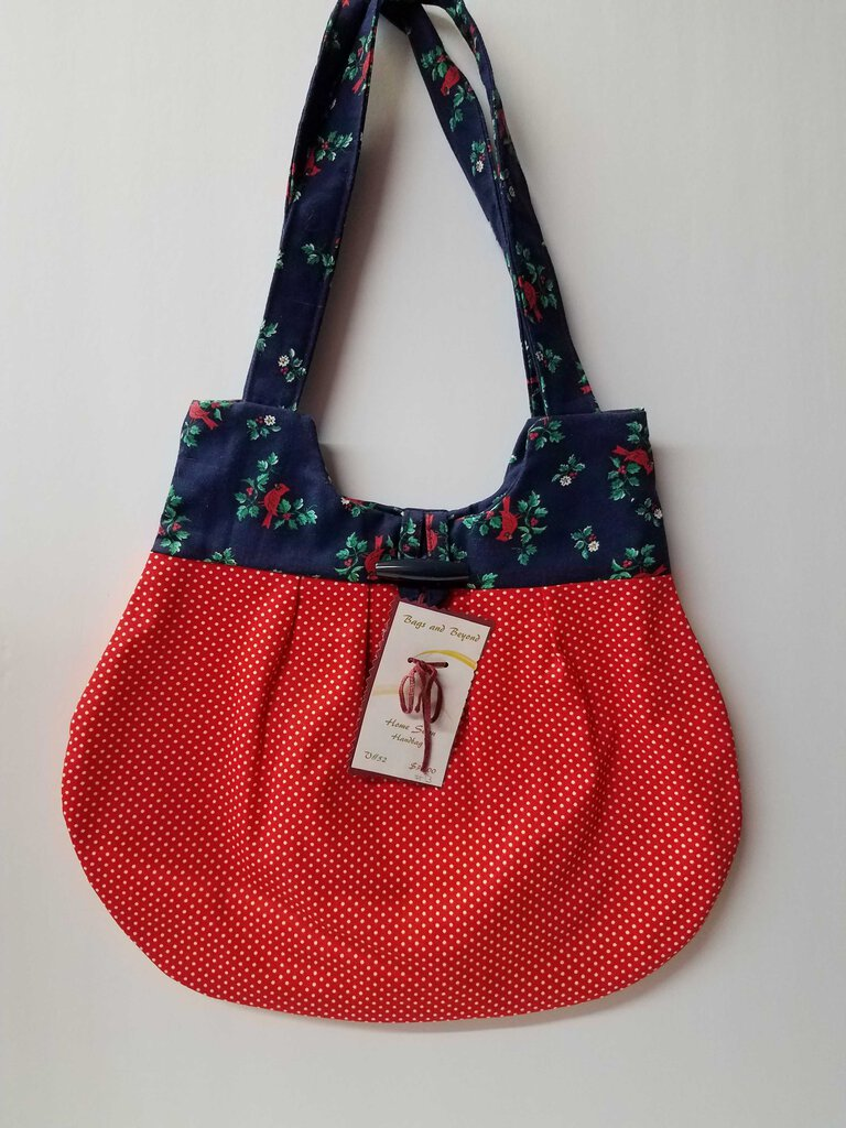 Red Polka Dot Cardinals Rounded Shoulder Bag