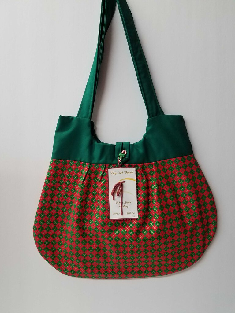Christmas Argyle Rounded Shoulder Bag
