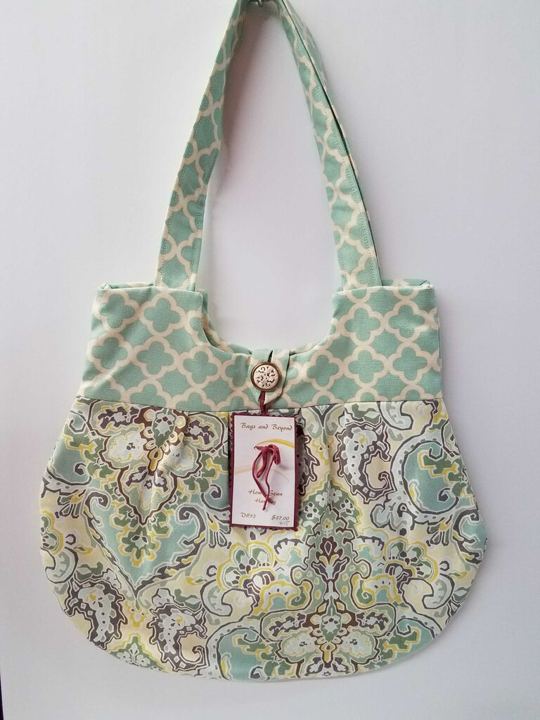 Paisley Sea Foam Rounded Shoulder Bag