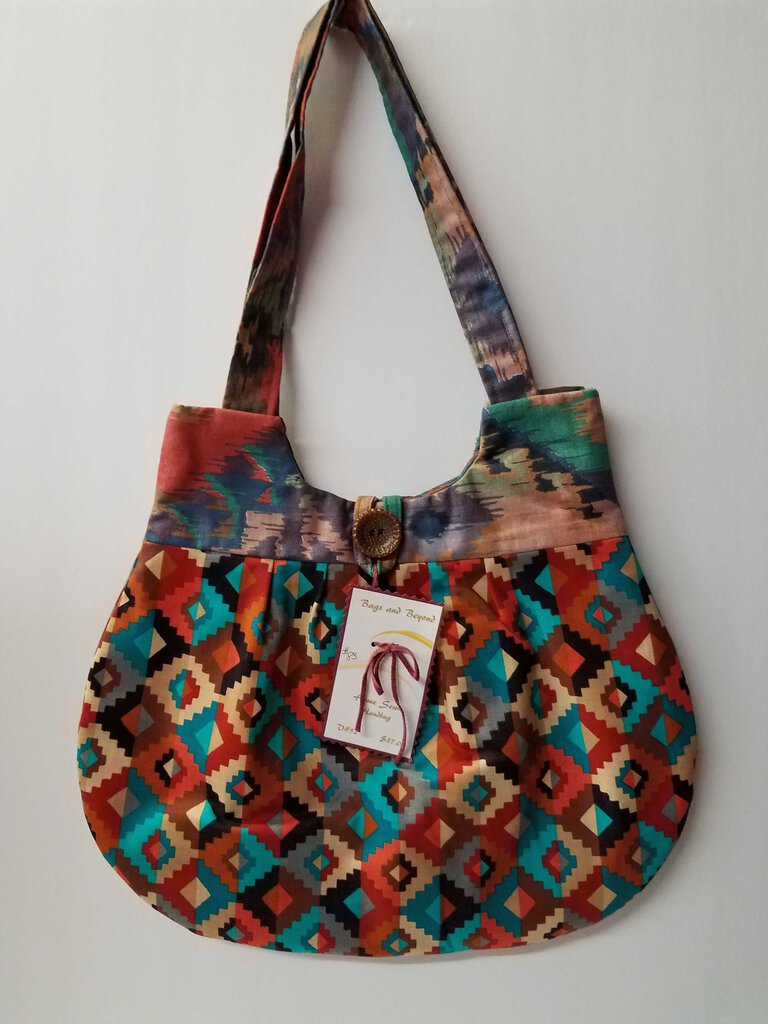 Geometric Aztec Rounded Shoulder Bag