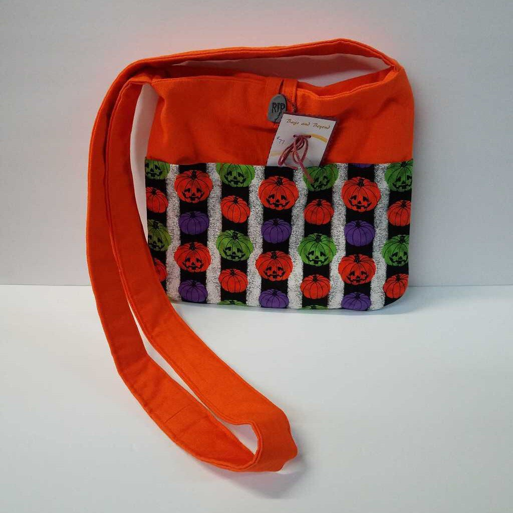 Colorful Jack O Lantern Medium Crossbody Purse