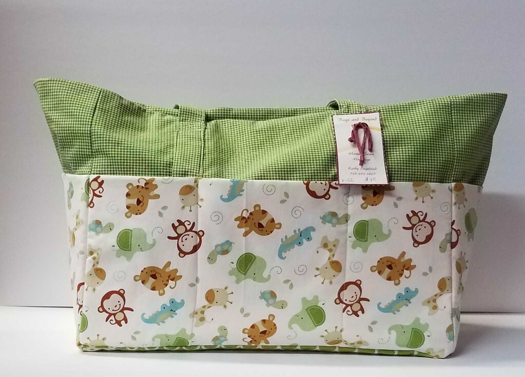 Baby Zoo Animal Diaper Bag Tote Bag
